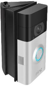 Ring Video Doorbell II on Adjustable Mount in Black