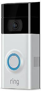 Ring Video Doorbell II Silver and Black