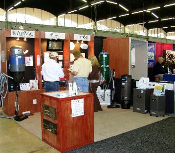 Home Show display with Airvac & Proline & Beam Vacs
